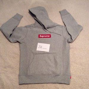 *Defect* Supreme Box Logo Hoodie - Grey - S